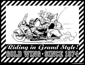 TShirt Print Gold Wing since 1974